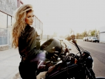 Marisa Miller and motorcycle