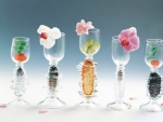 Beautiful Flowers in the Glass