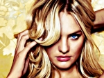 Candice Swanepoel ~ The Golden Lady (Oil painting)