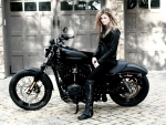 Marisa Miller and Harley Davidson