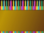 Piano Keys Border I - Golden