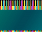 Piano Keys Border II -Teal & Blue