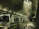 crash on a subway platform