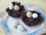 Easter Eggs in Chocolate Nest