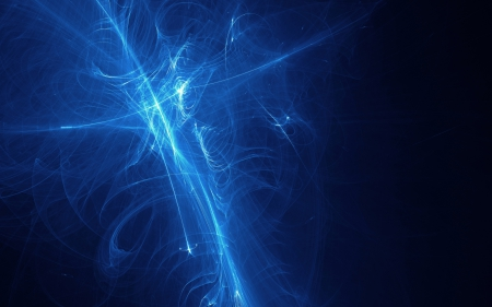Blue Fractal - fractal, graphics, lines, abstract, blue