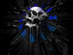 Abstract Skull Blue