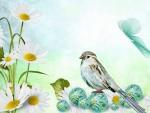 Daisy Bird Marbles
