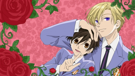 Ouran high  school - coupl, cute, tamaki, haruhi
