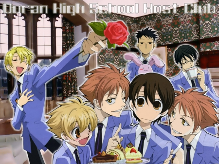 Ouran high  school - club, school, ouran, high