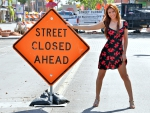 Street Closed (Sexy Redhead Rayna)