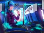 Miku in aeroplane
