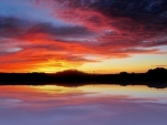 Rosy Sunset Reflection