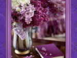 Lilac in frame