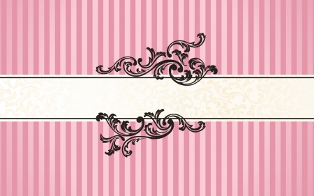 Fine Pattern 3 - vector art, lines, pink, florals, patterns