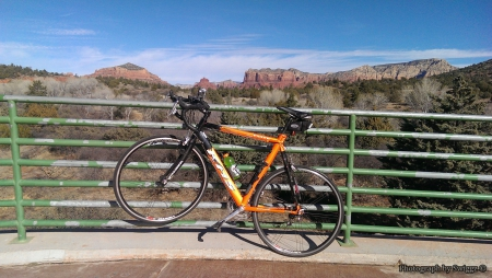 Cycling in Sedona, Arizona - Arizona, Road, KHS, Mountains, Cycling, Sedona, Sky, Bike