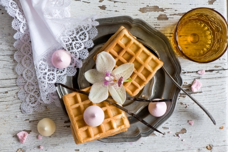 *Waffles* - waffles, meringues, lace, orchid