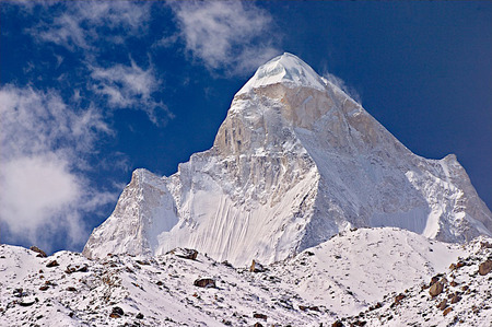 Shivling ( Beautiful India ) - mystical, summit, himalayas, shiva, hinduism, snow white, india, shivling, snow, pinnacle, mountains, peak, hindu, nature, spirtiual