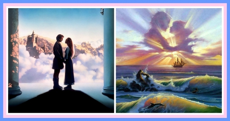 RE-UPLOADED, FOLKS!!--(The NEW, Corrected) Meeting Each Other In Heaven - true love, reunited, waiting for you there, meeting, love, heaven, meeting each other, couple