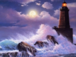 Lighthouse Waves