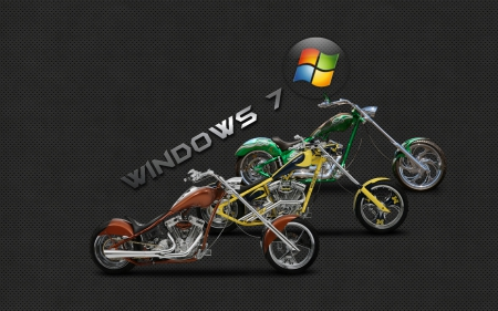 Windows Seven - bike, windows seven, harley, motorcycle