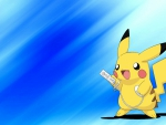 Pikachu playing Wii