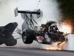 Spectacular Dragracer Crash