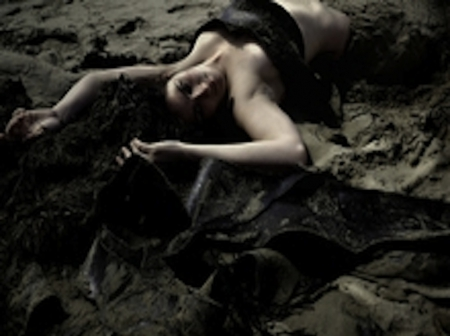 sand play - sand, fantasy, woman, dark