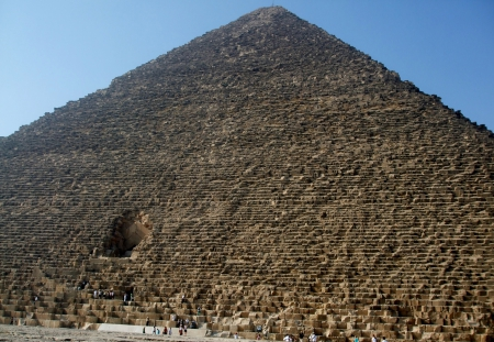 Great Pyramid - tomb, Pharoah, desert, ancient, stone, Egypt, landmark, pyramid