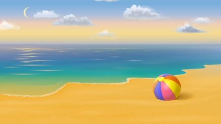 Beach ball in ocean Sand Beach Ball Ball Gold Sand Ocean Sumer Beach Clouds Desktop Nexus Nature Beach Ball Beaches Nature Background Wallpapers On Desktop Nexus