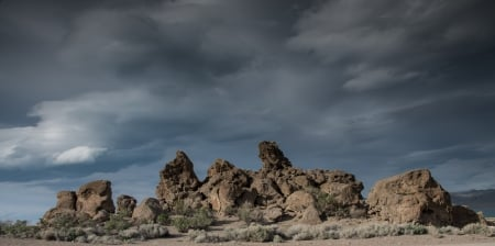 The Show must go on - desert, rock, tufa, Nevada, sky, Sigma, Pentax, nature, Pyramid Lake, landscape