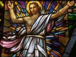 Christ Rising Stained Glass Window