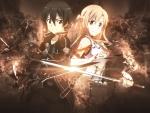 Kirito & Asuna Back to Back