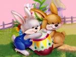 easter bunny garden