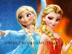 Anna of Ice and Elsa of Fire