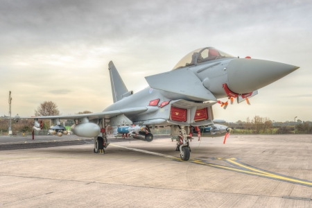 TYPHOON IN MUTIL-ROLE FIT WITH BRIMSTONE MISSILE AND PAVEWAY IV - eurofighter, plane, fighter, euro, jet, typhoon