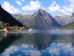 picturesque village in sognefjord norway