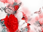 Butterflies on the Flowers