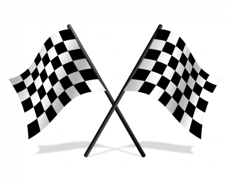 the race - winner, win, best, first, flag