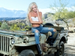 Jennifer Ann on a Jeep