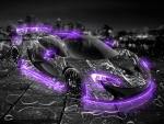 McLaren P1 Water-Car in Violet-Neon
