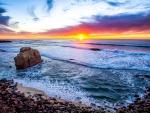 Sunset on San Diego Beach