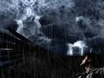 Castiel at rainy darkness