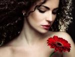Beautiful Woman - Red Gerbera