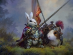 Sir Rabbit And His Might Steed