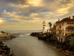 House and Lighthouse in Portugal