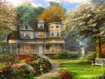 Victorian Home In Spring