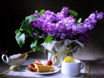 tea time and flowers of spring