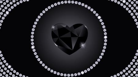 Black Heart Diamond 3d And Cg Abstract Background