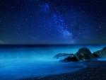 Stars over sky