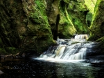 Finnich Gorge Waterfall, Scotland